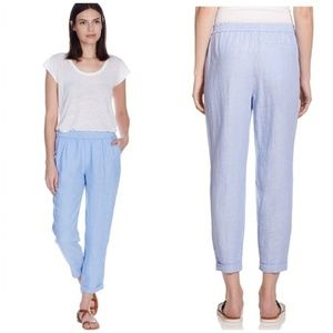 Joie | Chambray Blue Linen Cropped Pants| L
